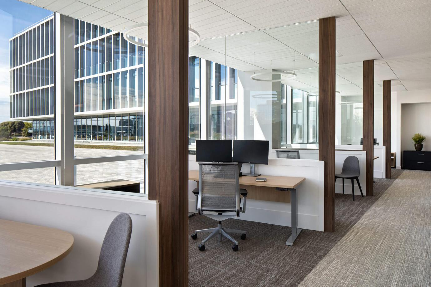 Offices with views to outdoors and natural light